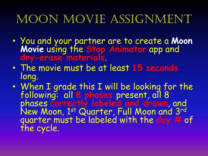 moon movie assignment n.