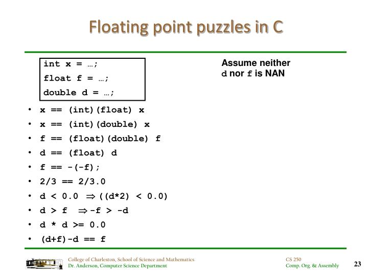 Floating point puzzles in C