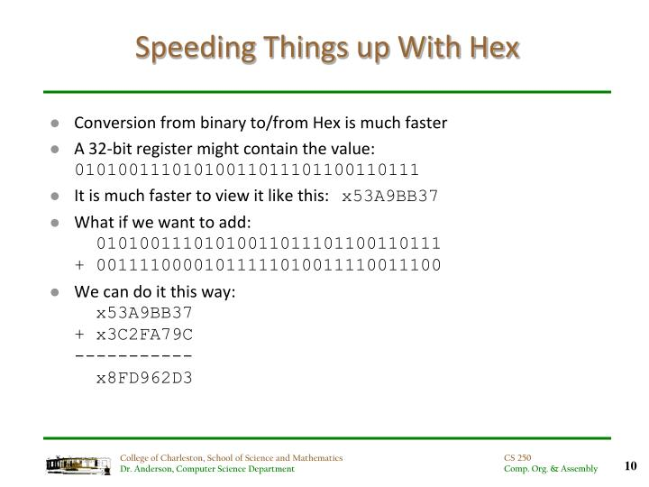 Speeding Things up With Hex