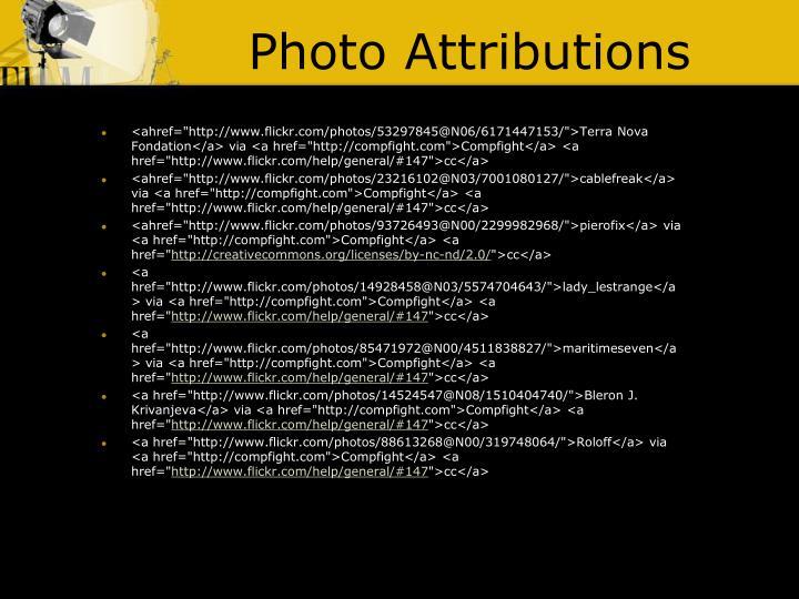 Photo Attributions