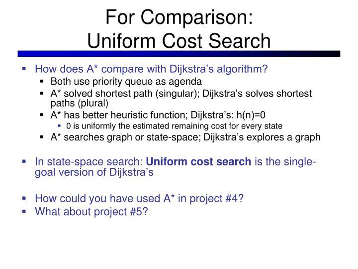For Comparison: