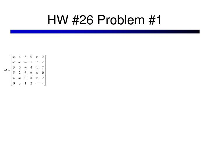 HW #26 Problem #1