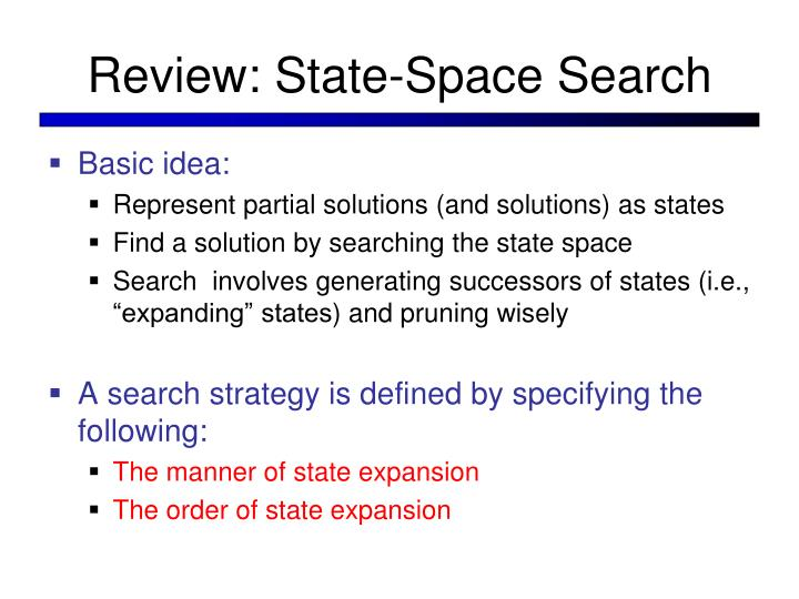 Review: State-Space Search
