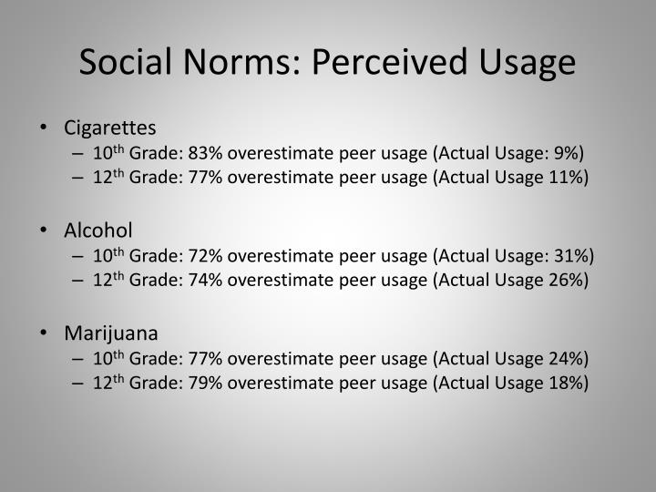 Social Norms: Perceived Usage