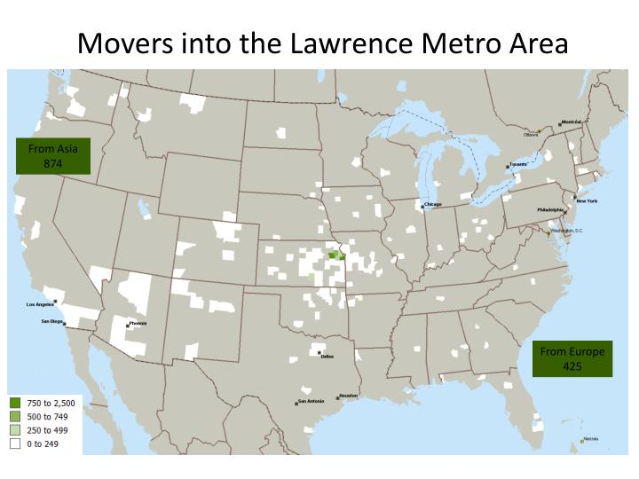 Movers into the Lawrence Metro Area