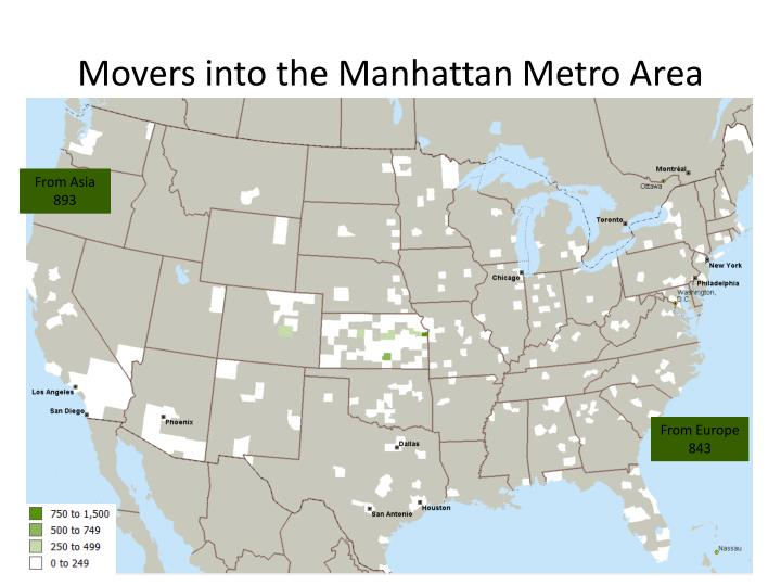 Movers into the Manhattan Metro Area