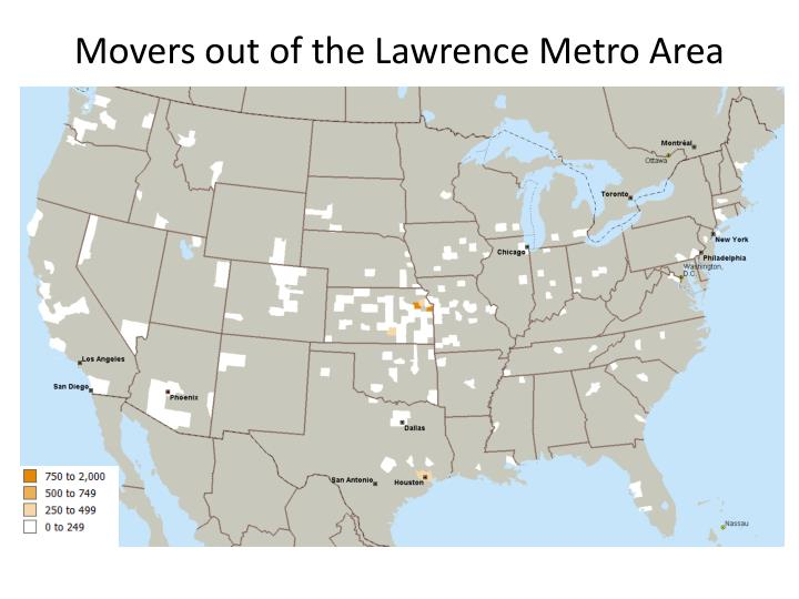 Movers out of the Lawrence Metro Area