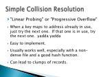 simple collision resolution