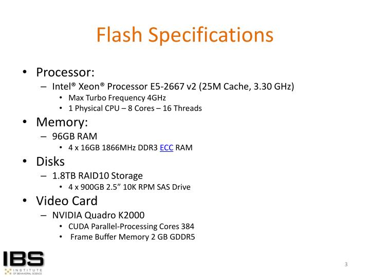 Flash specifications