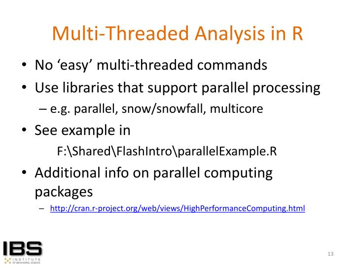 Multi-Threaded Analysis in R