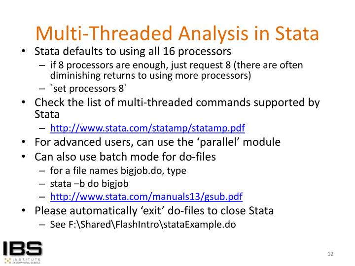Multi-Threaded Analysis in Stata