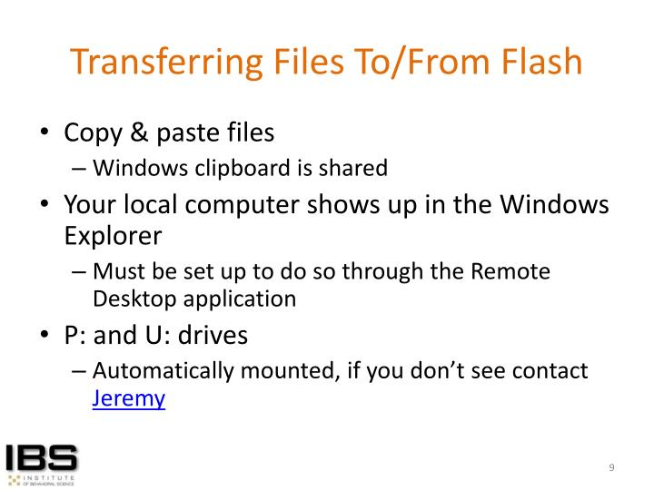 Transferring Files To/From Flash