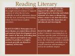 reading literary