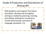 grade 4 production and distribution of writing w 5