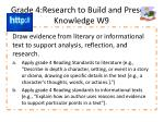 grade 4 research to build and present knowledge w9