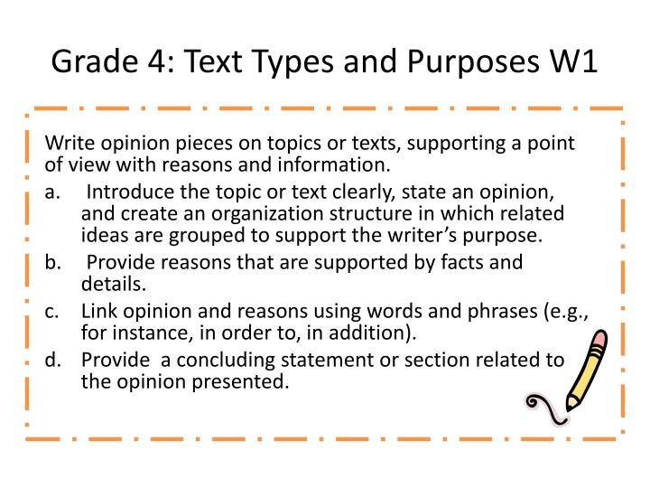 grade 4 text types and purposes w1 n.