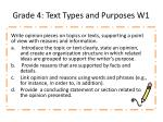 grade 4 text types and purposes w1
