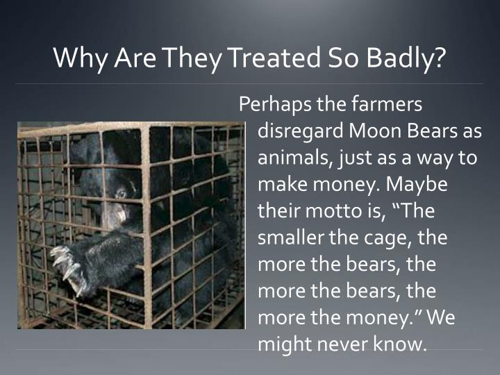 Why Are They Treated So Badly?
