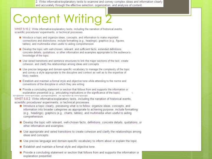 Content Writing 2