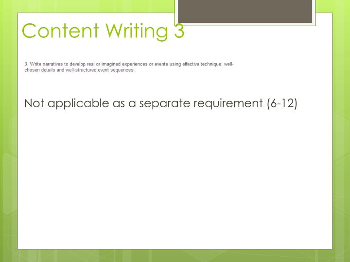 Content Writing 3