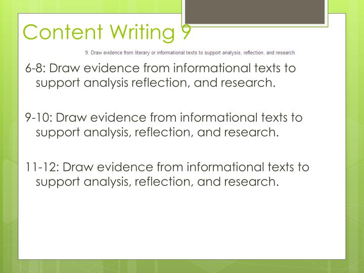 Content Writing 9