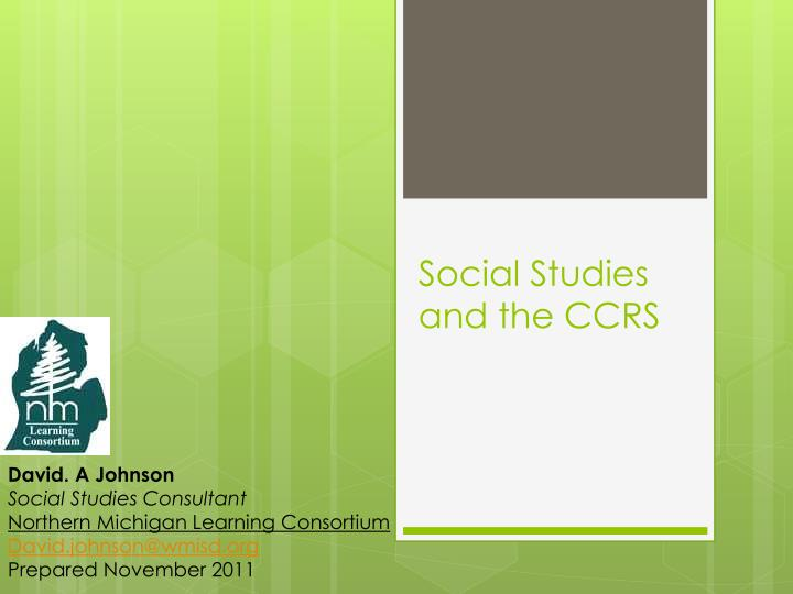 Social studies and the ccrs