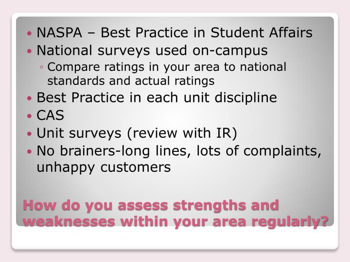 NASPA – Best Practice in Student Affairs