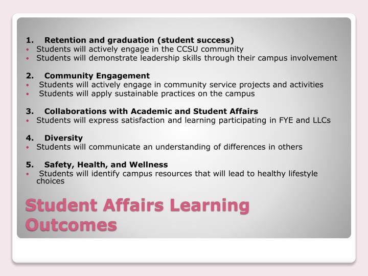 1. Retention and graduation (student success)