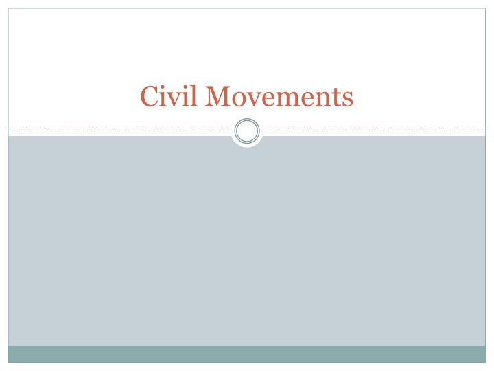 civil movements n.