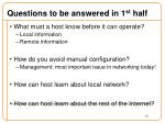 questions to be answered in 1 st half1