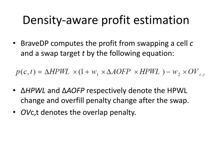 Density-aware profit estimation