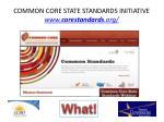 common core state standards initiative www corestandards org