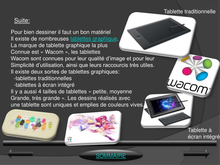 Tablette traditionnelle
