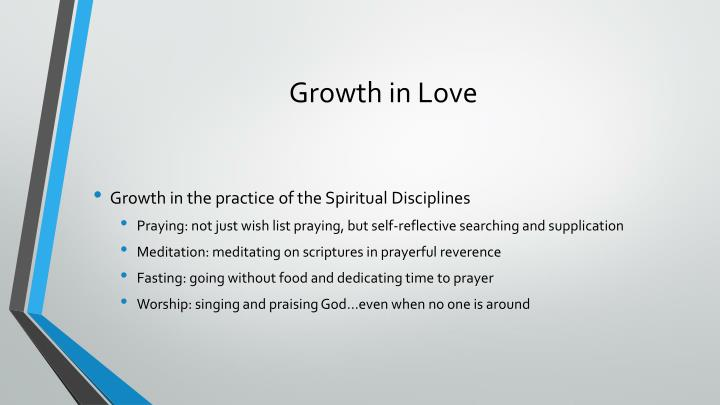 Growth in Love