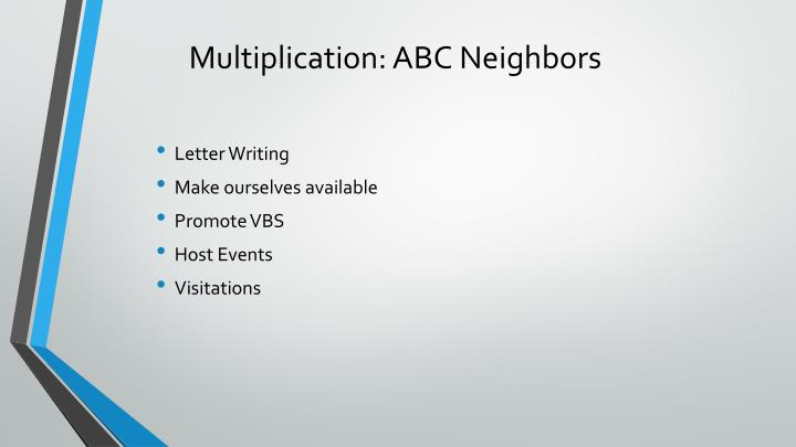 Multiplication: ABC Neighbors