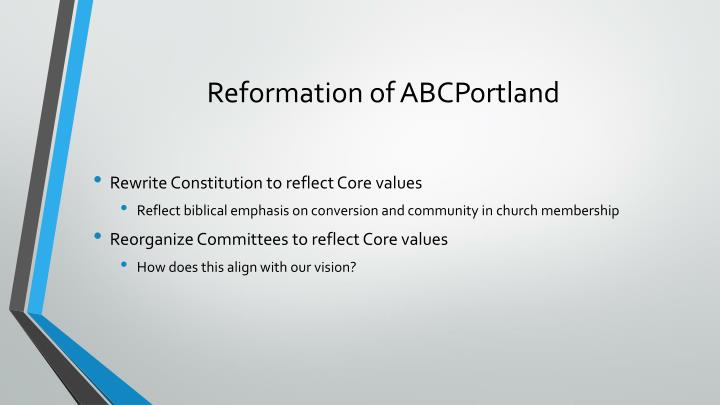 Reformation of