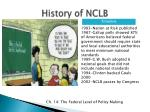 history of nclb