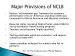 major provisions of nclb
