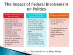 the impact of federal involvement on politics