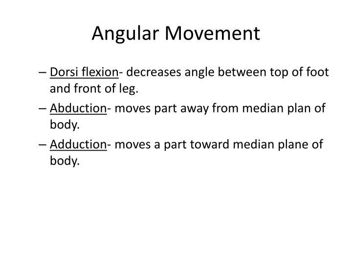 Angular Movement