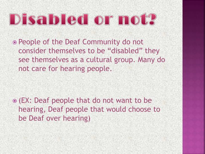 Disabled or not?