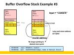 buffer overflow stack example 3
