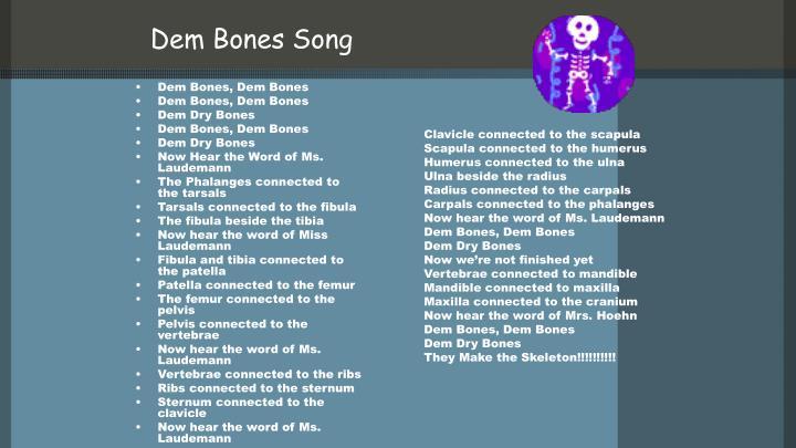 Dem Bones Song