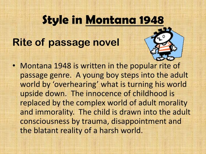 Style in montana 1948
