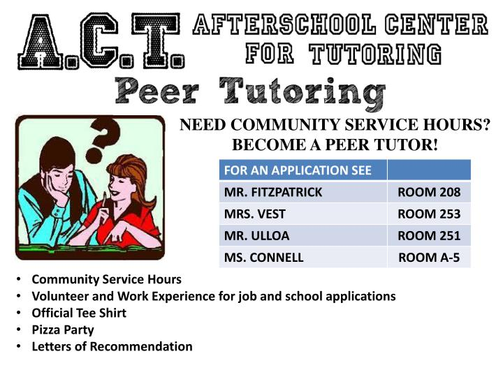 NEED COMMUNITY SERVICE HOURS?