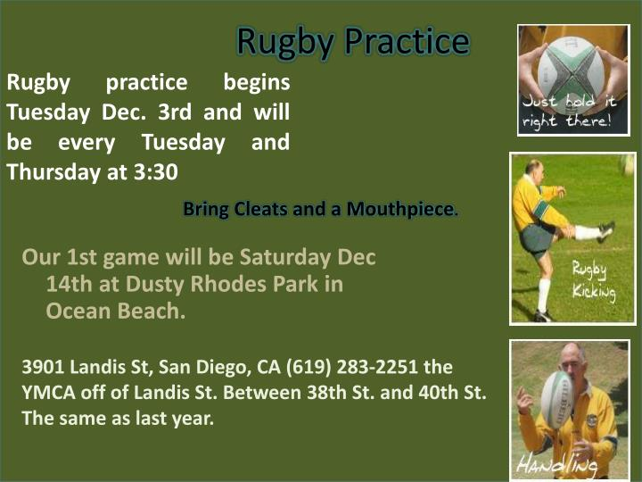 Rugby Practice