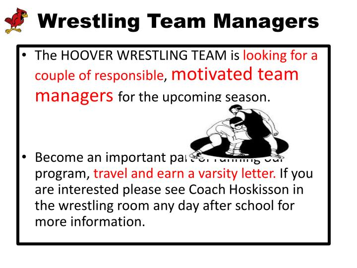 Wrestling Team Managers