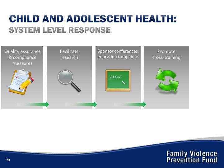 CHILD AND ADOLESCENT HEALTH: