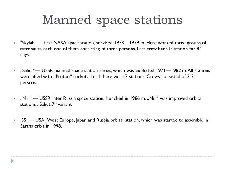 Manned space stations